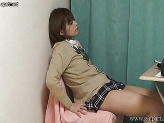 Japanese girls room to peep for 24h. Her upskirt.